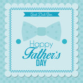 Happy Father's Day Template Card Background — Stock Vector