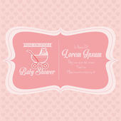 Baby Shower Template Card Illustration Editable — Stock Vector
