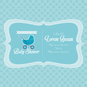 Baby Shower Template Card Illustration Editable — Vecteur