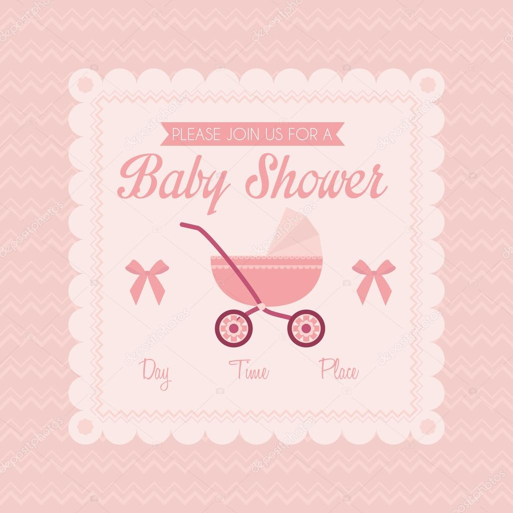 baby shower place cards template - baby shower template card illustration editable stock
