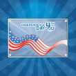 American Independence Day Background Template Editable — Stock Vector #46510837