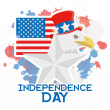 American Independence Day Background Template Editable — Stock Vector #46512291