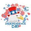 American Independence Day Background Template Editable — Stock Vector