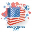 American Independence Day Background Template Editable — Stock Vector #46512717