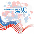 American Independence Day Background Template Editable — Stock Vector #46512855