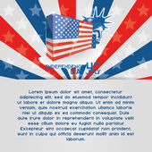 American Independence Day Background Editable — Stock Vector