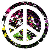 Abstract Peace Icon Isolated On Background — Stock Vector