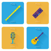 Set Of Different Colorful Musical Elements — ストックベクタ