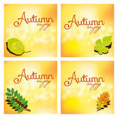 Set Of Different Abstract Autumn Backgrounds — Stock Vector