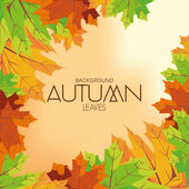 Abstract Autumn Background Pattern Template — Stock Vector