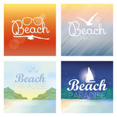 Different Summer Vacation Templates For Background — Stock Vector