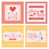Set Of Different Love Cards Templates — Stock vektor