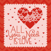 San valentín tarjeta plantilla editable o lindo amor — Vector de stock