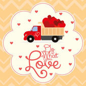 Cute Love Or Saint Valentine Card Template Editable — ストックベクタ