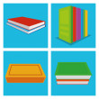 Set Of Different Book Illustrations Isolated — Stock Vector #48652495