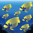 Background Scene With A Group Of Fishes — Stock Vector #48653547