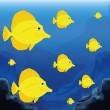 Background Scene With A Group Of Fishes — Stock Vector #48653959