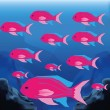 Background Scene With A Group Of Fishes — Stock Vector #48653975