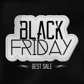 Black Friday Sticker Isolated On Background — Stock Vector