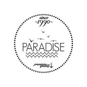 Simple Stylish Black And White Beach Related Label — Stock Vector