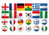 在世界的不同标志集 — 图库矢量图片