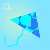Colorful Kite Isolated On Background — Stock Vector
