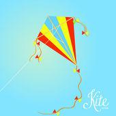 Kleurrijke kite geïsoleerd op achtergrond — Stockvector