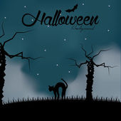 Cartoon Halloween Background Editable With Space For Text — Stock Vector