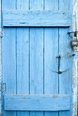 Photo of Blue Grunge Door — Stock Photo