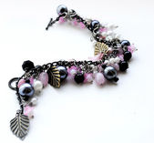 Bracelet handmade beads — Stock Photo