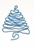 Foto de bolas de navidad en primer plano azul — Foto de Stock