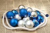 クリスマス ボールのクローズ アップの写真 — ストック写真