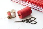 Carretel de linha. costurar acessórios. — Foto Stock