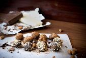 Trufa de chocolate doces — Fotografia Stock
