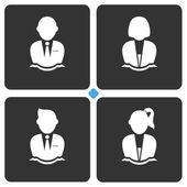 Avatar pictogram — Stockvector