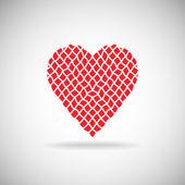 Rough net heart — Stockvector