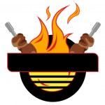 Grill Logo — Stock Vector #42396875