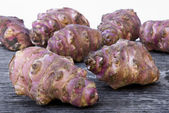 Jerusalem artichoker root (Helianthus tuberosus) — Stock Photo