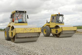 Road construction equipment — Stock Photo