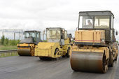 Road construction equipment — Photo