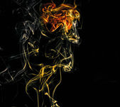 Lion - smoke cloud, abstract photo — Stock Photo