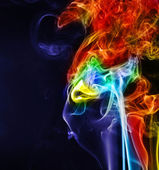 Face of smoke — Stock Photo