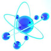 3d shiny blue Molecule — Stockfoto