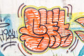 Graffiti on the old wall — Stock Photo