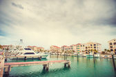 Fishing boat in harbour — Stock Photo