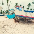 Boat on beach — Stock Photo