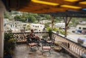 Man relaxing in Luxurious villa — Стоковое фото