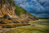 Tropical panoramic beach in Dominican Republic — Foto Stock
