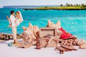 Figure of wedding newlywed couple — Stock Photo