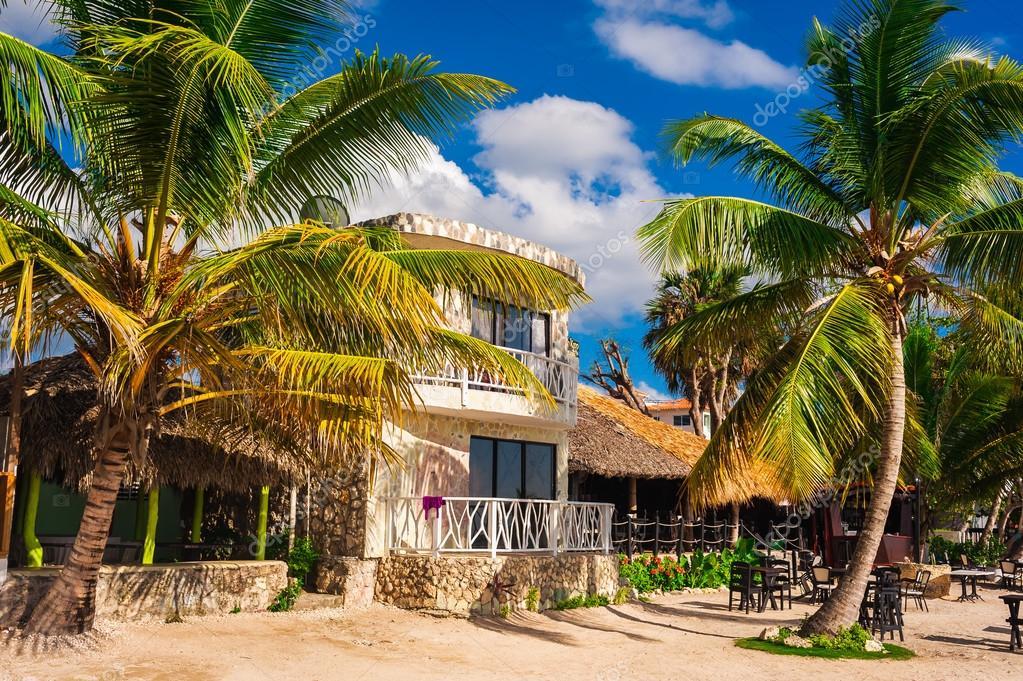 Casa sulla spiaggia tropicale foto stock azz 42895979 for Disegni di casa sulla spiaggia tropicale